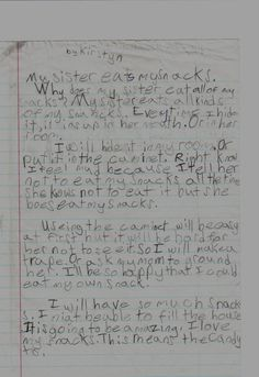 On sisters:   23 Insightful Journal Entries From Elementary Schoolers