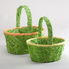 One of my favorite discoveries at WorldMarket.com: Green Excelsior Easter Baskets