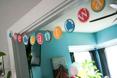 "& the most festive baby shower decoration... ""we can't wait!"" banner"