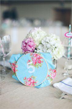 embroidery hoop table numbers