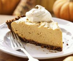 Pumpkin Chiffon Pie: A spiced filling, made from whipped cream, creates a lighter-tasting version of traditional pumpkin pie. The gingersnap crust adds more kick than classic crusts.