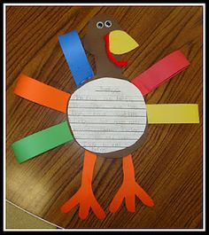 Turkey craft and writing freebie