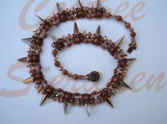 Beading pattern Necklace Prickly Delicious beading patterns, bead pattern, pattern necklac