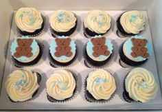 #Cupcakes for a #Baby Shower #TeddyBears