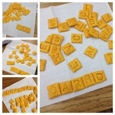 Word Fun with Cheez-It Crackers - great for letter learning and Names at beginning of the school year.  Fun!