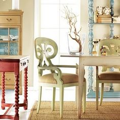 somerset bay, arm chair, dining chairs, painted chairs, office chairs, carmel green, decor idea, blues, mustard yellow