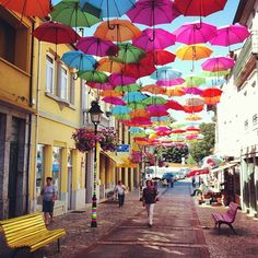 umbrella sky Portugal