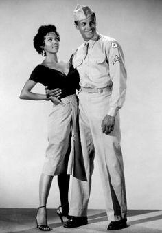 Dorothy Dandridge and Harry Belafonte in   ''Carmen Jones'', 1954