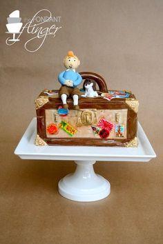 Adventures of TinTin birthday cake • Tintin gateaux