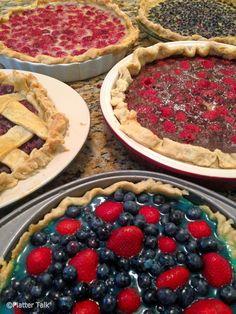 Pies of Summer Series - Raspberry Custard Pie.  From Platter Talk.