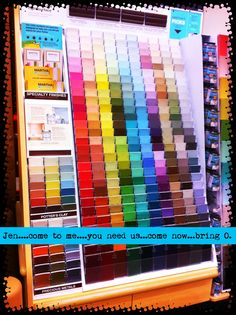 Upcycled Education: Paint swatch activities