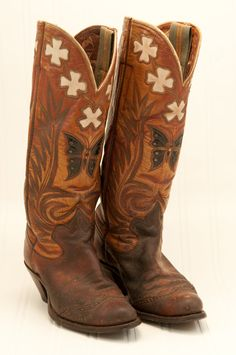 Fabulous Vintage Cowboy Boots by OohLaLaLaStudio on Etsy, $400.00