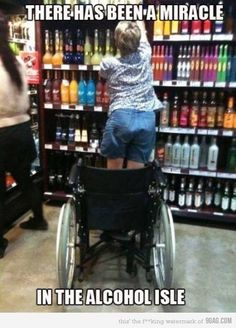 wine, miracl, laugh, funny stories, funni, humor, funny photos, funny commercials, walmart