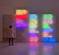 A little bit of Bruce Nauman.
