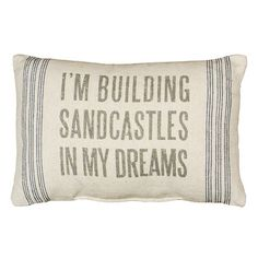 Linen throw pillow with a beach-themed saying.   Product: PillowConstruction Material: LinenColor: Ivo...