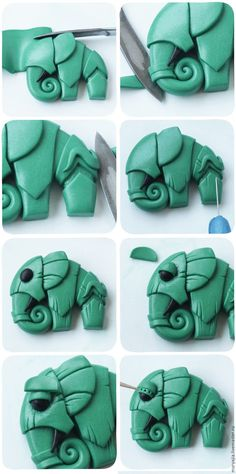 Elephant in polymer clay.