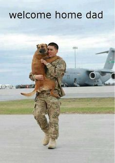 It's funny, most people get all emotional over reunions between service members and their children or significant others...I, on the other hand, love the puppy and owner reunion! So adorable!