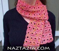 Crochet broomstick lace scarf crochet-crochet