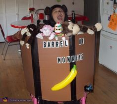 Barrel of Monkeys - Homemade Halloween Costume