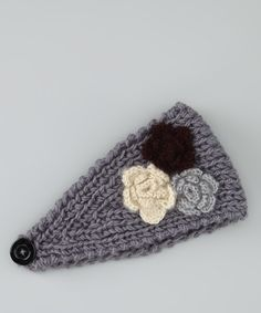 Gray Multicolor Bouquet Head Wrap