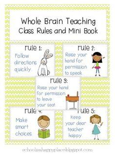 Whole Brain Teaching Class Rules and  Mini Book
