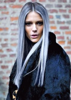 grey hair, ombre, hairstyles, hair colors, straight hair, silver hair, long hair, blue hair, beauti