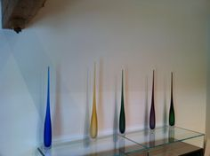 These glass flutes available from Roche Bobois are stunning and go in almost any environment.