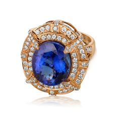Le Vian's Blueberry Tanzanite® set in Strawberry Gold®