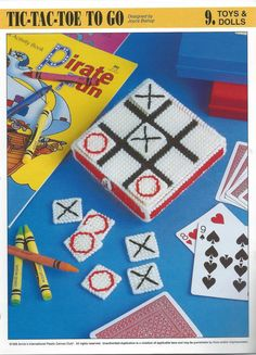 Tic Tac Toe To go Plastic Canvas Pattern by needlecraftsupershop, $3.50