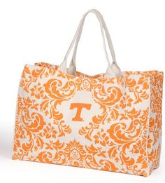 Tennessee Vols City Tote - Women's College Game Day Dresses, Clothing, Shoes, Jewelry, Hats, Stadium Stompers, Handbags, Accessories and More!$28.00 #vols tote #orange handbag