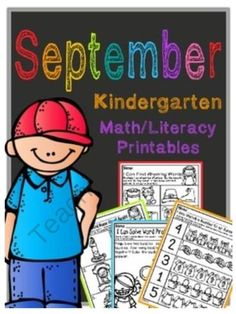September Kindergarten Math and Literacy Packet NO PREP Common Core Aligned from Tristen Dixon on TeachersNotebook.com -  (40 pages)  - 40 great Common Core aligned math and literacy printable activities for your kindergarten students!  NO PREP so you just print and GO!! I Can statements for each printable listed at the top and each page has common core standard listed at the bottom!