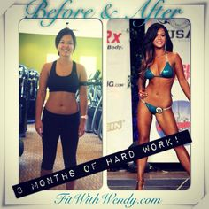 My client!! I trained her in Irvine, California for Her first NPC Bikini competition! Three months prep!!