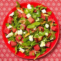 Chicken salad with watermelon