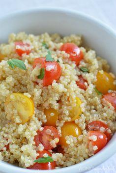 Homemade Roasted Garlic & Herb Dressing : Tomato Quinoa Salad - #healthy #glutenfree #vegetarian #vegan
