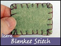 This post actually contains two tutorials involving the blankets stitch: •How to sew two pieces of felt together using blanket stitch  •How to sew an edging using blanket stitch