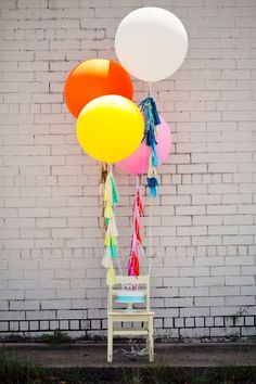 Giant Balloon with Colorful Tassel