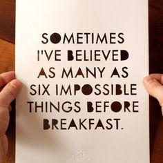 haha very true :) Im a dreamer.