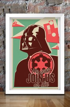 Star Wars Inspired Retro Propaganda Print by thedesignersnursery, $30.00 #thedesignersnursery, #darthvader