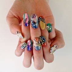 Colorful nail art, http://susikenna.tumblr.com/