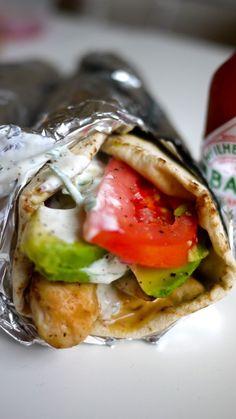 Homemade gyros (greek food)