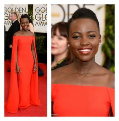 Discover natural beauty and hair tips with expert stylist advice on Lupita's look:  Golden Globes Beauty- How to get Lupita Nyong'o's hair- FocusOnStyle.com