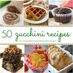 50 Zucchini Recipes - Chocolate Chocolate and More!