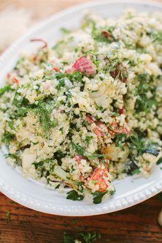 roasted spring veg + quinoa salad