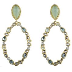 Siyabona Gold Peruvian Chalcedony Drop Clip Earring :: Earrings :: Jewelry By Category :: Alexis Bittar