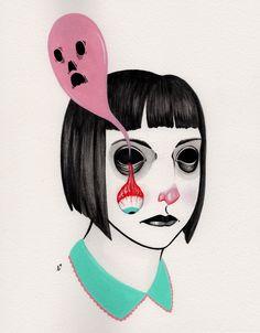 """haunted socket"" Art Print by Ally Burke on Society6."
