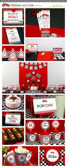 Race Car Birthday Party Theme ♥ Designs & Party Styling by LeeLaaLoo ♥ Shop Here: https://www.etsy.com/shop/LeeLaaLoo/search?search_query=b1&order=date_desc&view_type=gallery&ref=shop_search