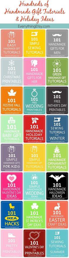Handmade Gifts Tutorials & Holiday Ideas…Hundreds of Them! - EverythingEtsy.com #diy #holiday