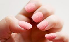 Pink Flocking // The Engaged Girl's Guide to Nail Art // Cupcake's Clothes