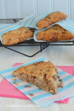Banana Toffee Scones - light and flakey banana bread scone recipe