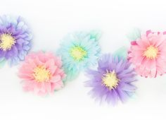 diy tissue flowers... Perfect for a baby shower